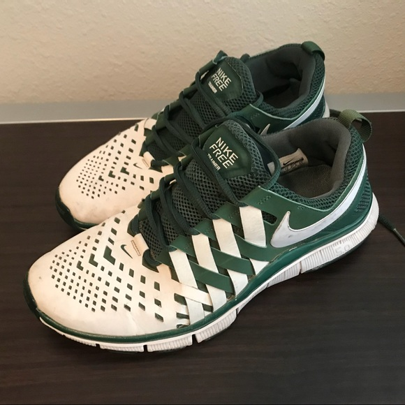 ee6c7e3e8a92 Men s Nike free trainer 5.0 green and white. M 5b380125de6f62eedfe378ee